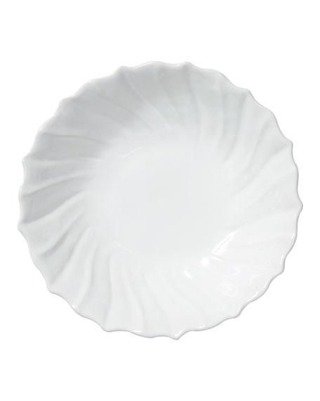Incanto Stone Ruffle Large Bowl, White
