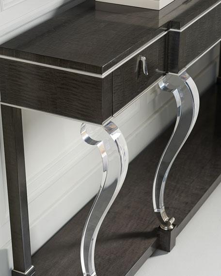 Axle Acrylic-Leg Console Table