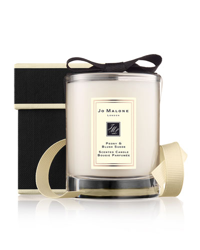 Peony & Blush Suede Travel Candle  60 g