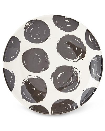 Brushed Dot Scoop Dinner Plates, Set of 4