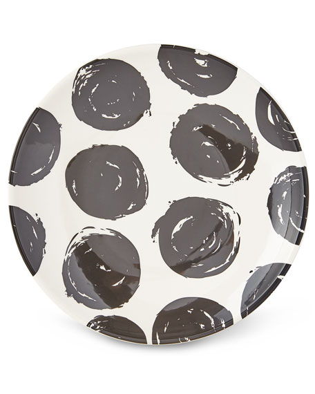 Coton Colors Brushed Dot Scoop Dinner Plates, Set