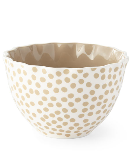 Small Dot Ruffle Bowls, Set of 4