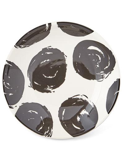 Brushed Dot Scoop Salad Plates  Set of 4