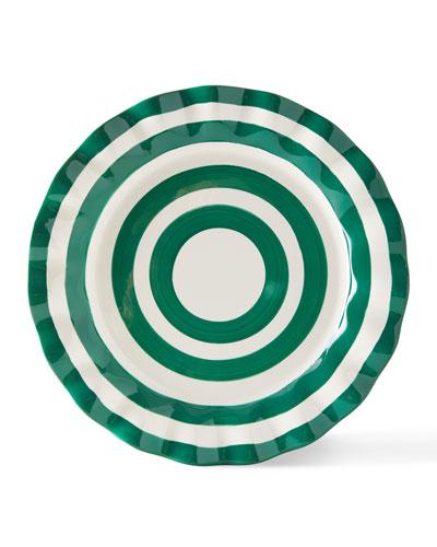 Spot On Ruffle Dinner Plates  Set of 4
