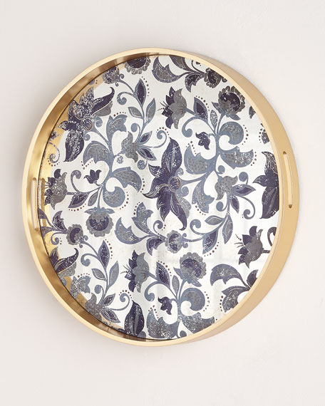 Small Etch Floral Decorative Tray