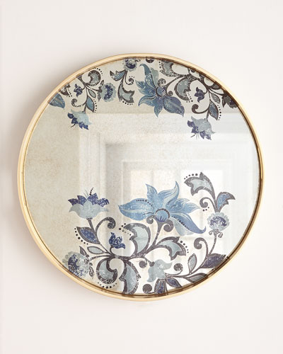 Large Etch Floral Decorative Tray