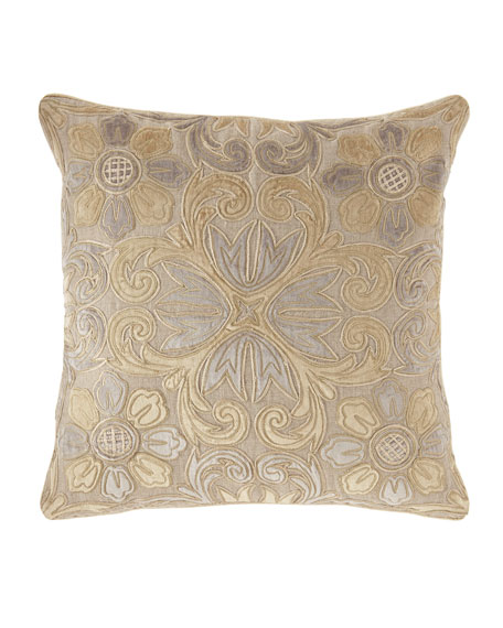 """Linen-Blend Pillow, 23""""Sq."""