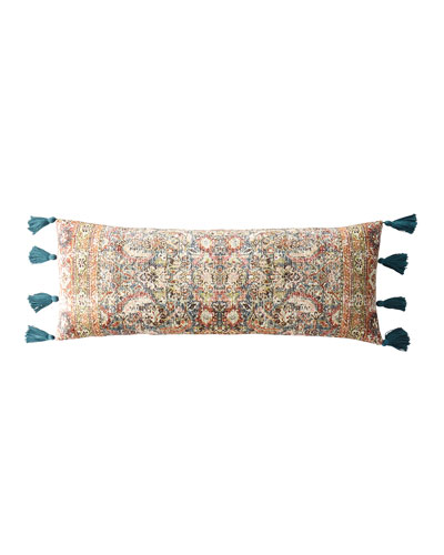 Velvet Pillow with Tassel Ends