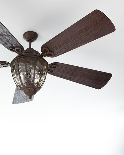 Olivier Outdoor Ceiling Fan with Integral Light Kit, 70