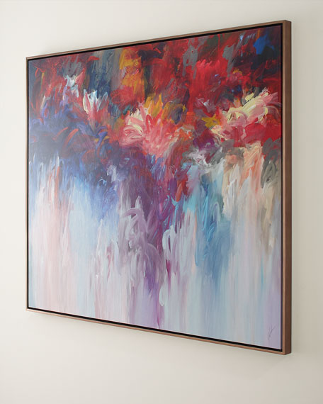 "Floral Fire Giclee on Canvas, 60"" x 50"""