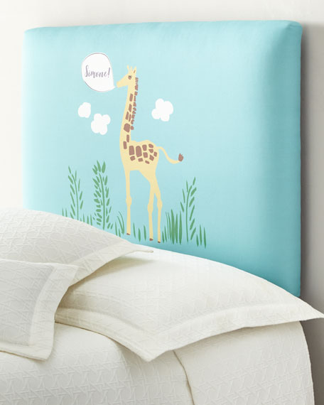Giraffe Full Headboard, Personalized