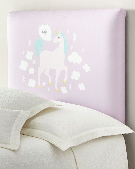 Unicorn Full Headboard, Personalized