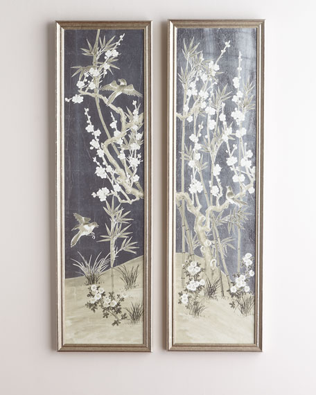 Antique Screen Diptych I