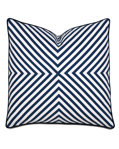 Summerhouse Striped Decorative Pillow
