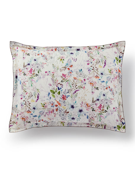 Peacock Alley Chloe Floral Standard Sham