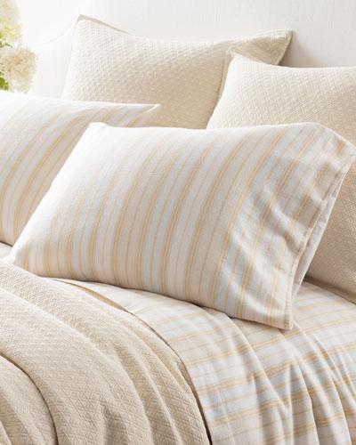 Shelburne Stripe Flannel King Pillowcases, Set of 2