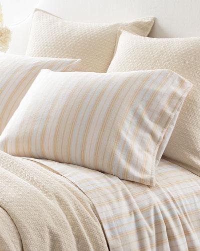Shelburne Stripe Flannel Twin Sheet Set