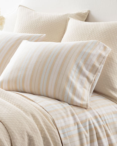 Shelburne Stripe Flannel King Sheet Set