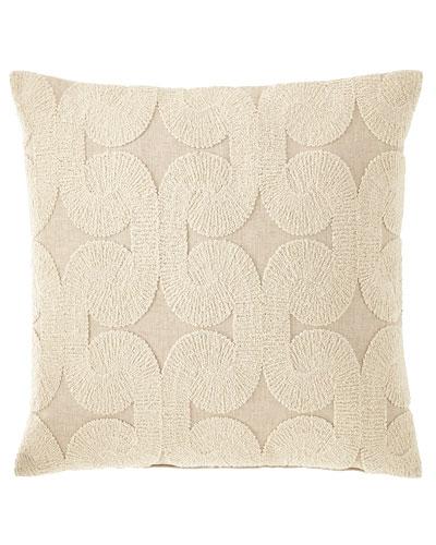 Rhea Oatmeal Knife Edge Pillow