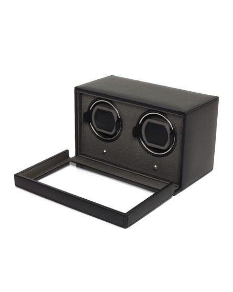 Double Cub Watch Winder with Cover