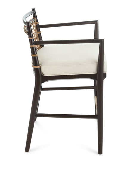Lucilla Upholstered and Jute Bar Stool