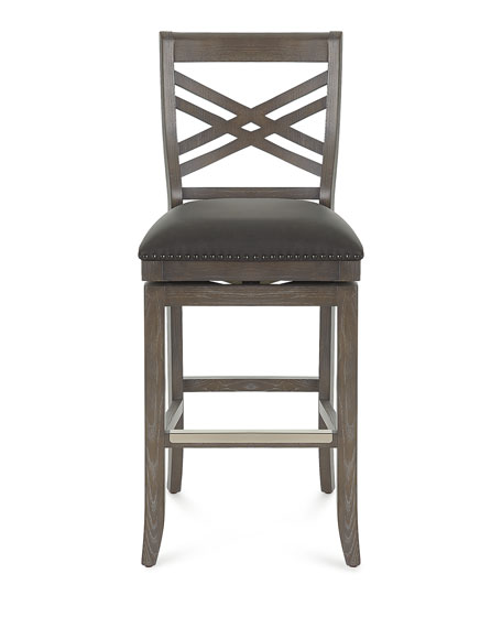 Pryce Leather Bar Stool with Memory Foam
