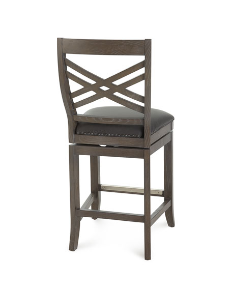 Pryce Leather Counter Stool with Memory Foam
