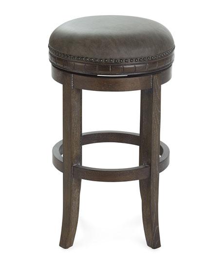 Parrish Leather Bar Stool