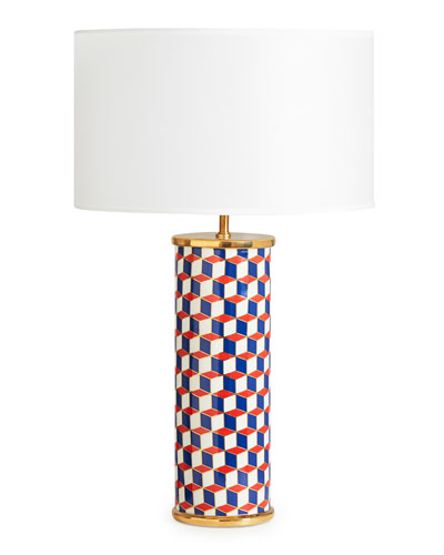 Carnaby Lamp  Navy/Red