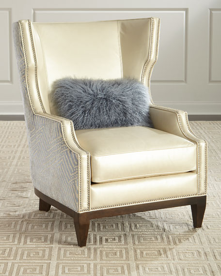 Akissa Leather Wing Chair