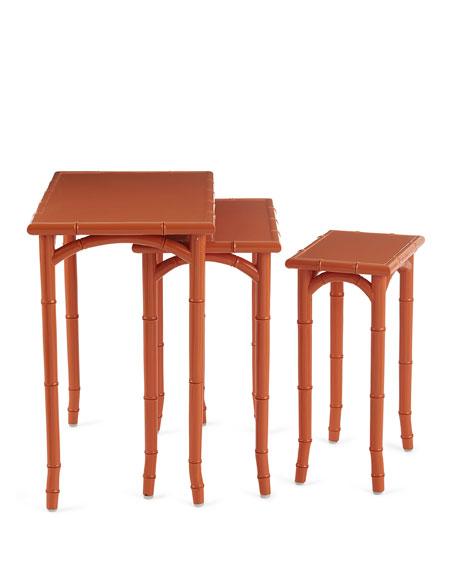 Eva Bamboo Nesting Tables, Set of 3