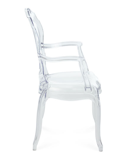 Pair of Angelica Acrylic Dining Arm Chairs