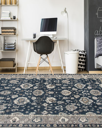 Bluestar Hand-Knotted Rug  9' x 12'