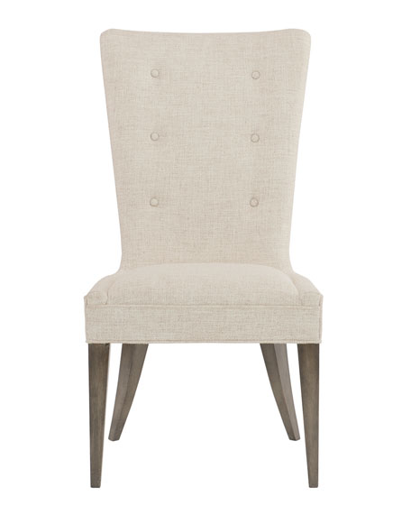 Profile Button-Tufted Side Chair