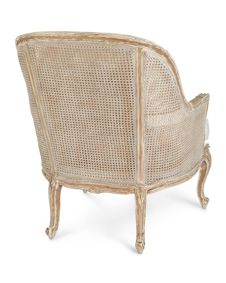 Cane-Back Bergere Armchair