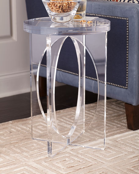 Acrylic Martini Side Table