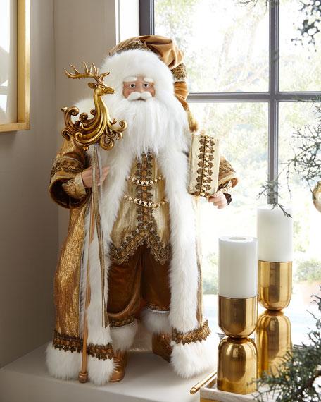 "Glimmer and Gold Santa, 36"""