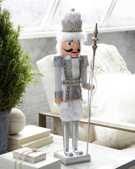 Silver and White Nutcracker, 24""
