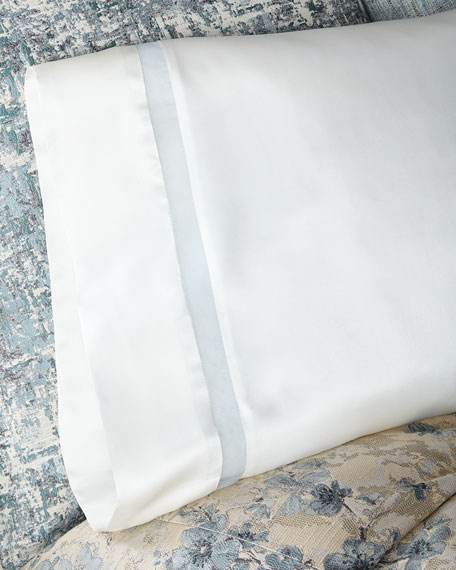 Amelia Charmeuse Silk Standard Pillowcase with Organza Inset