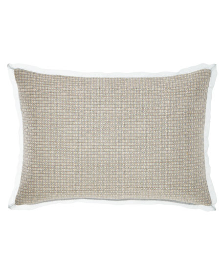 Rizzoli Oblong Pillow with Organza Flange