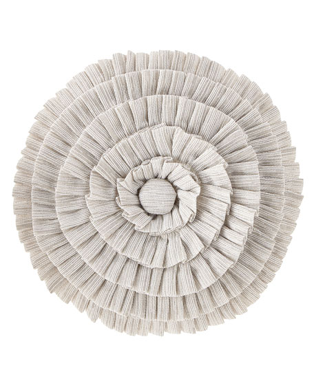 Novette Pleated Round Pillow