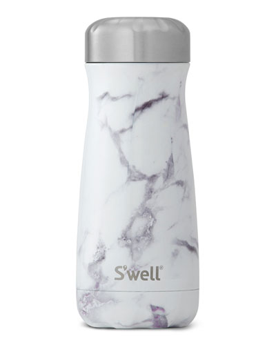 White Marble Traveler 16-oz. Reusable Bottle