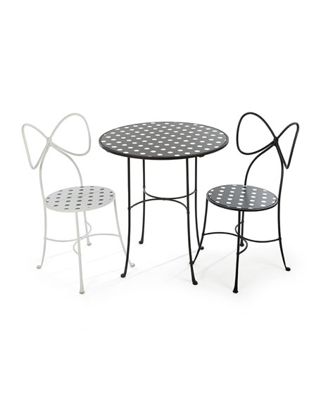 Bow-Back Dot Chair, Black