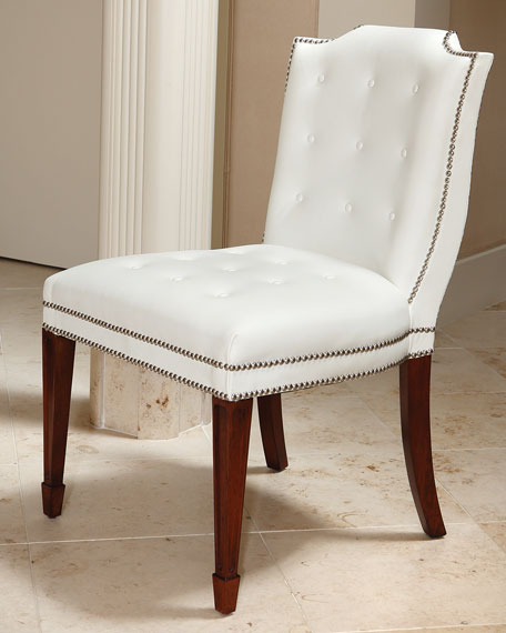 Global Views Mary Kate Leather Dining Chair
