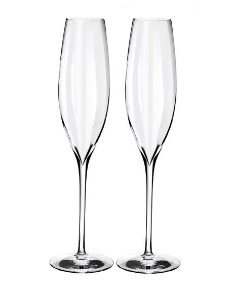 Elegance Optic Classic Champagne Flutes, Set of 2
