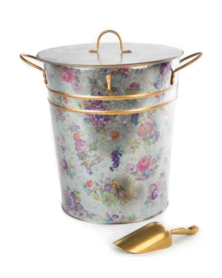 Flower Market Container with Scoop