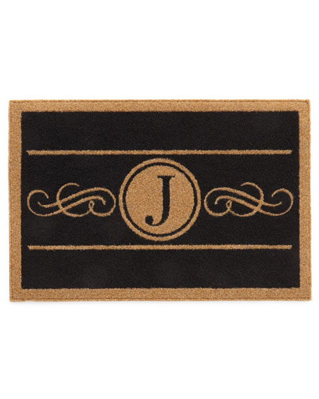 Custom Scroll Monogram Rug, 2' x 3'