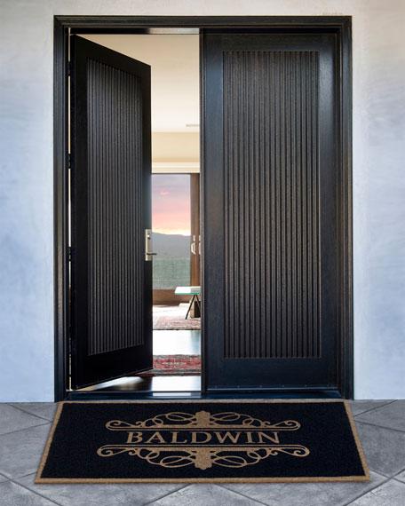 3 X 5 Natural Custom Baldwin Monogrammed Door Rug