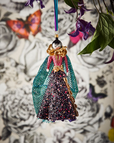 Lady in Purple Ornament