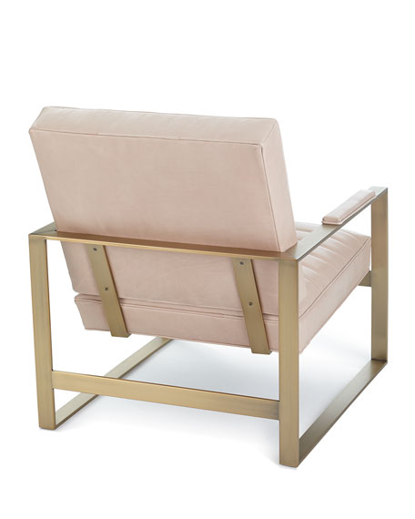 Carly Leather Channel Tufted Chair
